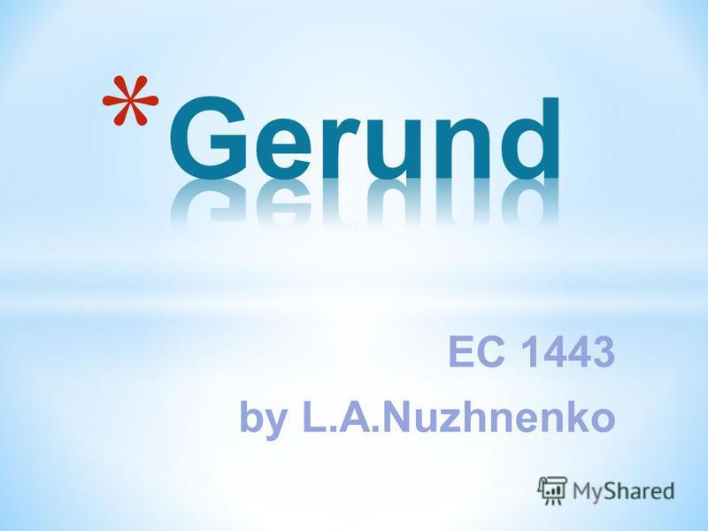 EC 1443 by L.A.Nuzhnenko