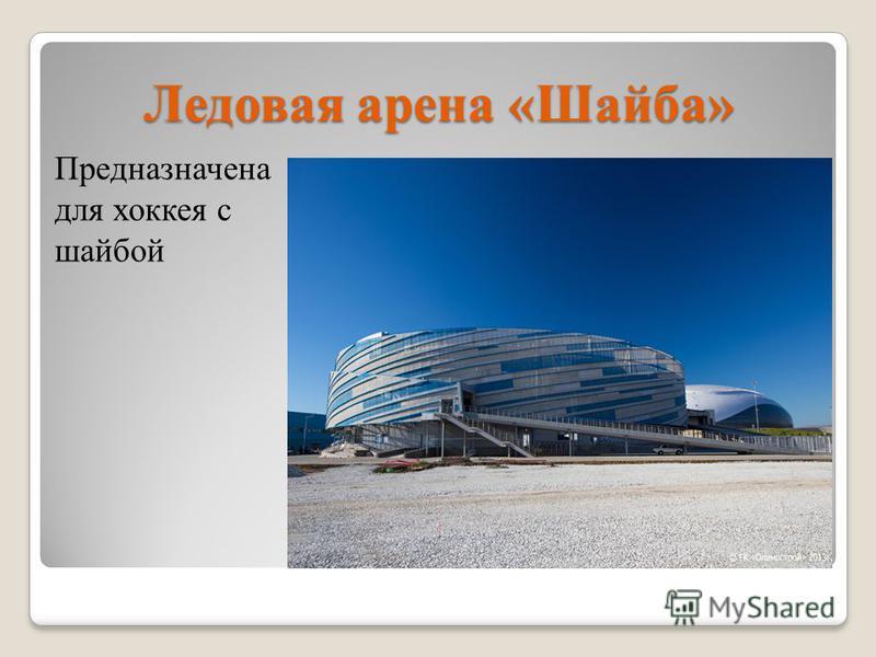Ледовая арена «Шайба» Предназначена для хоккея с шайбой