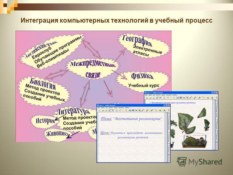 Интеграция компьютерных технологий в учебный процесс