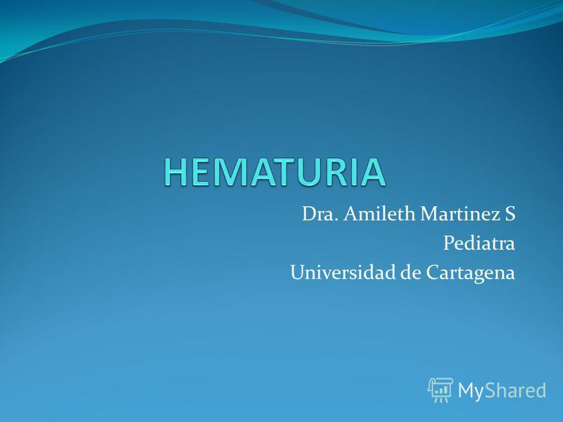Dra. Amileth Martinez S Pediatra Universidad de Cartagena