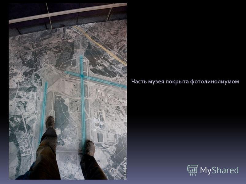 Часть музея покрыта фото линолеумом