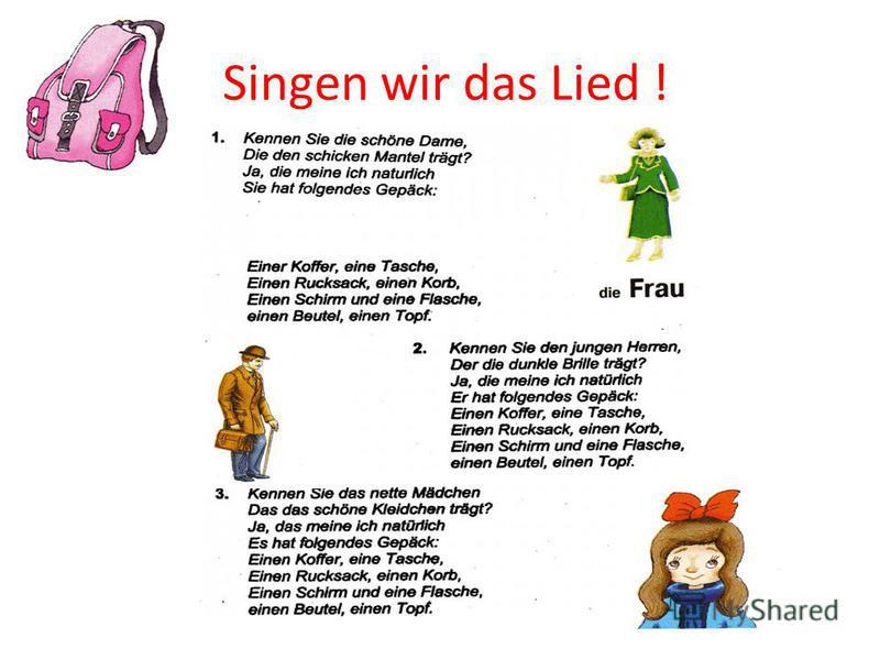 Singen wir das Lied !