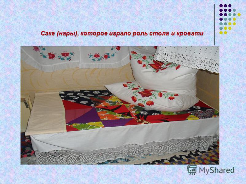 Сэке (нары), которое играло роль стола и кровати Сэке (нары), которое играло роль стола и кровати