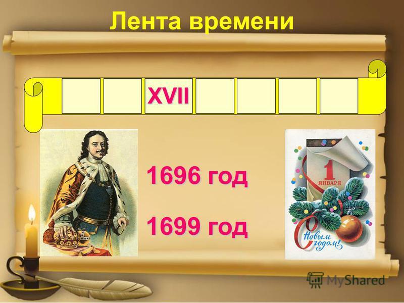 XVII 1696 год 1699 год Лента времени