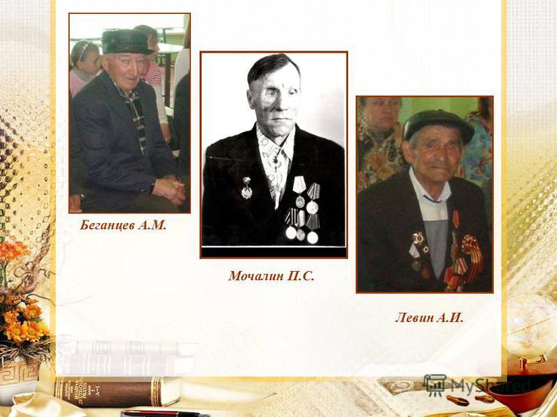 Беганцев А.М. Мочалин П.С. Левин А.И.