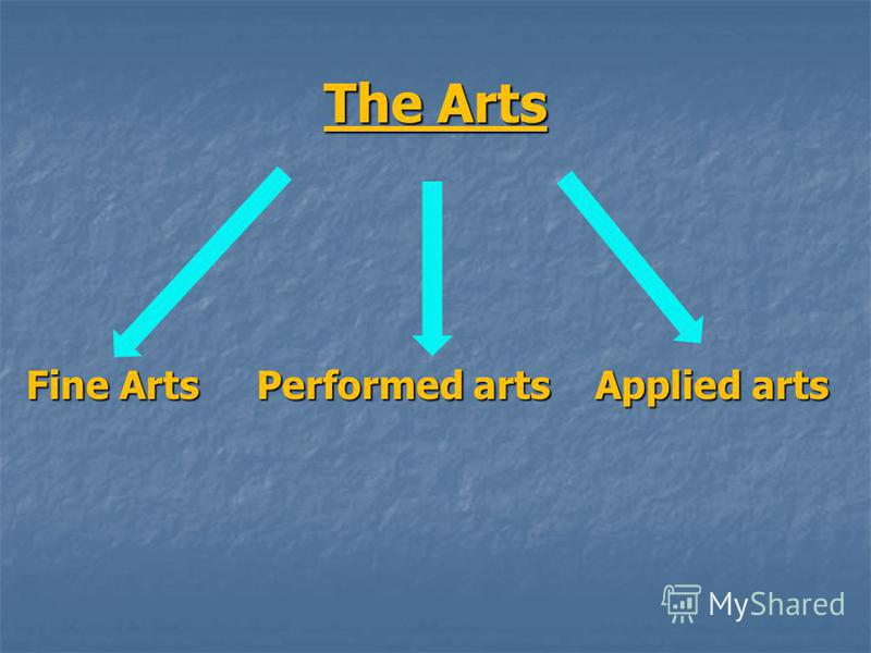 The Arts Fine Arts Performed arts Applied arts