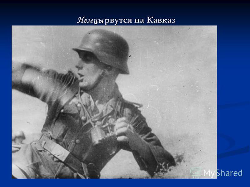 Немцы рвутся на Кавказ