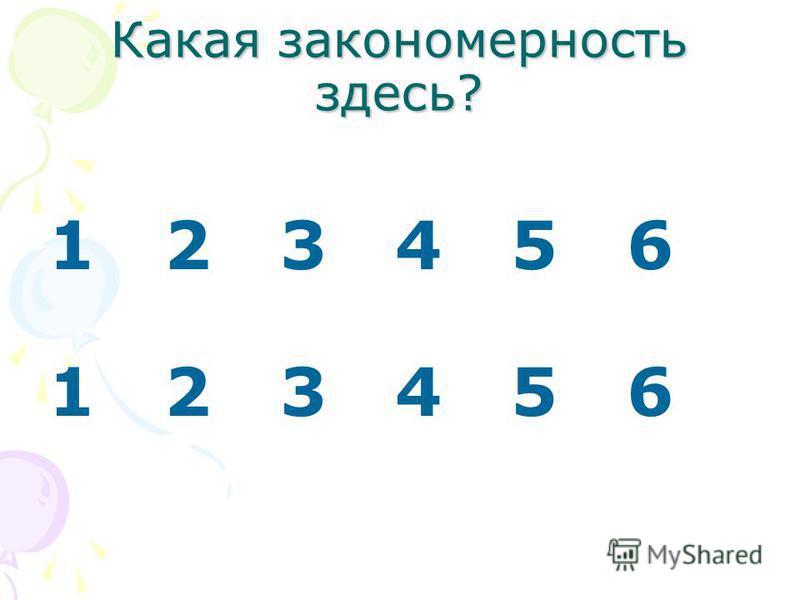 Какая закономерность здесь? 1 2 3 4 5 6
