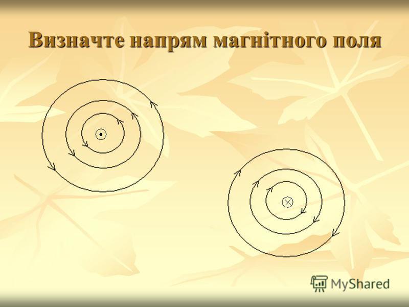 Визначте напрям магнітного поля