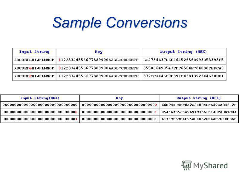 Sample Conversions