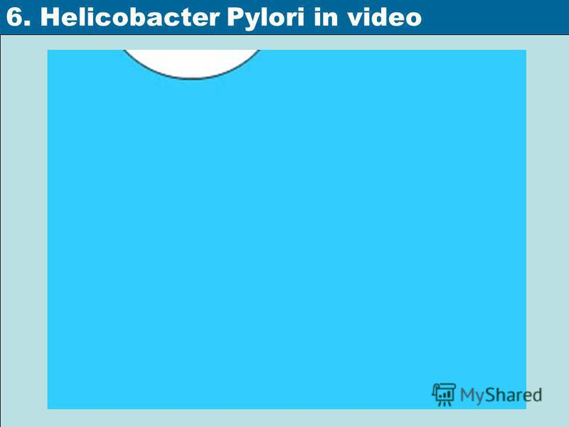 6. Helicobacter Pylori in video