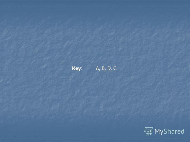 Key: A, B, D, C.