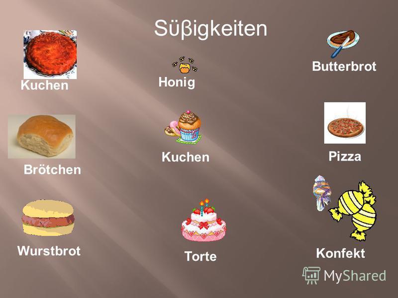 Sϋβigkeiten Honig Brötchen Kuchen Torte Konfekt Wurstbrot Butterbrot Pizza Kuchen