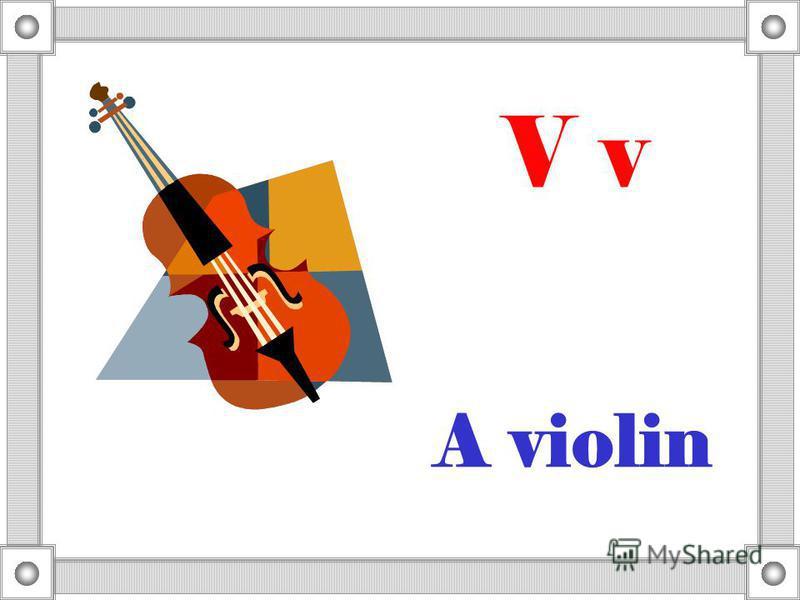 A violin V v