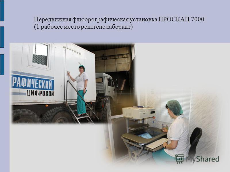 Передвижная флюорографическая установка ПРОСКАН 7000 (1 рабочее место рентгенолаборант)