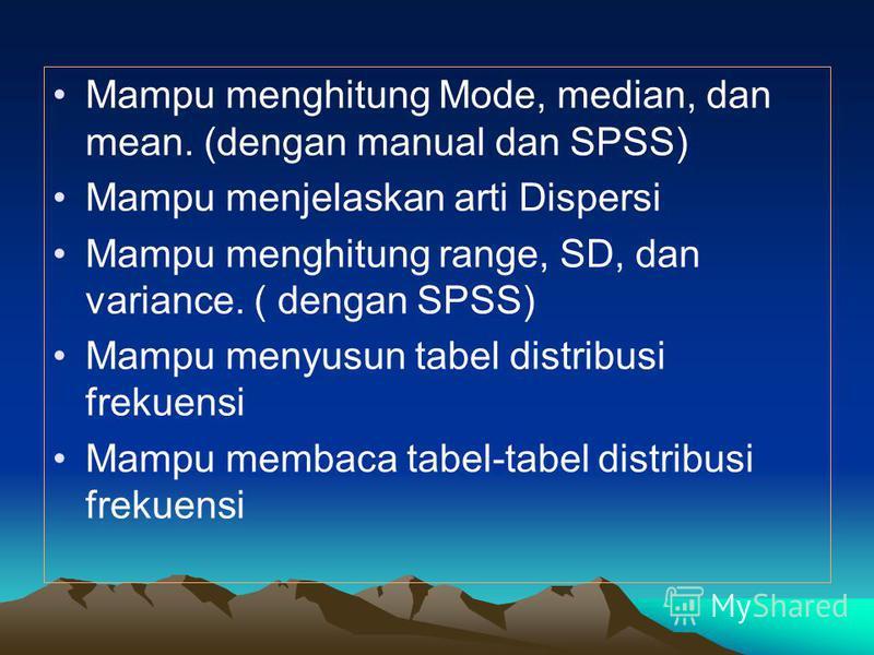 SPSS dan MS Excel pada Aplikasi Komputer