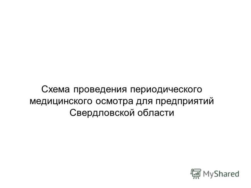 Схема проведения периодического медицинского осмотра для предприятий Свердловской области