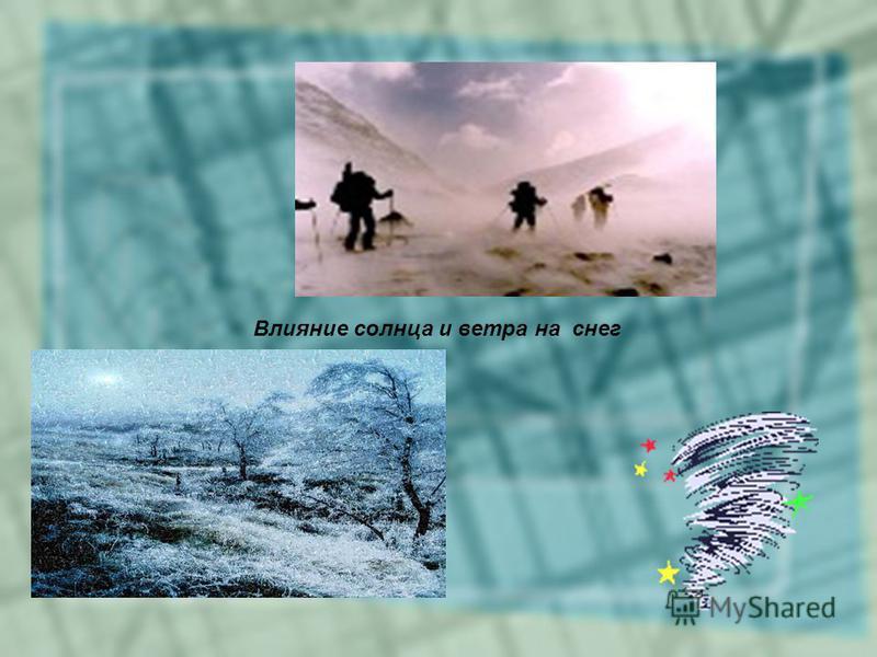 Влияние солнца и ветра на снег