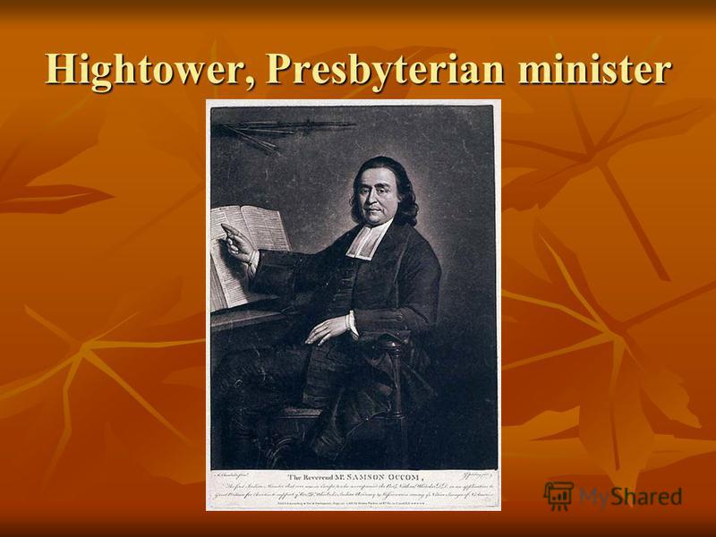 Hightower, Presbyterian minister