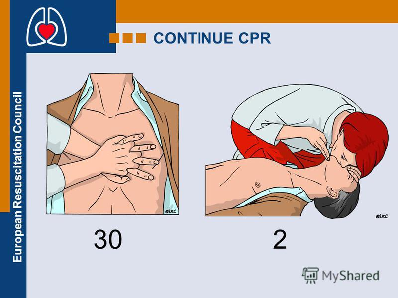 European Resuscitation Council CONTINUE CPR 302