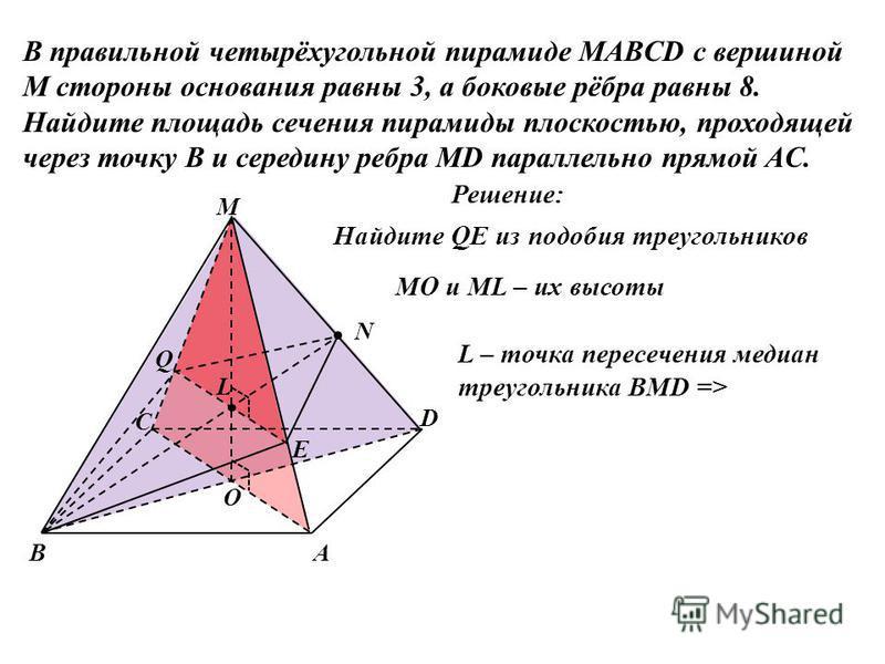 Как найти периметр основания пирамиды