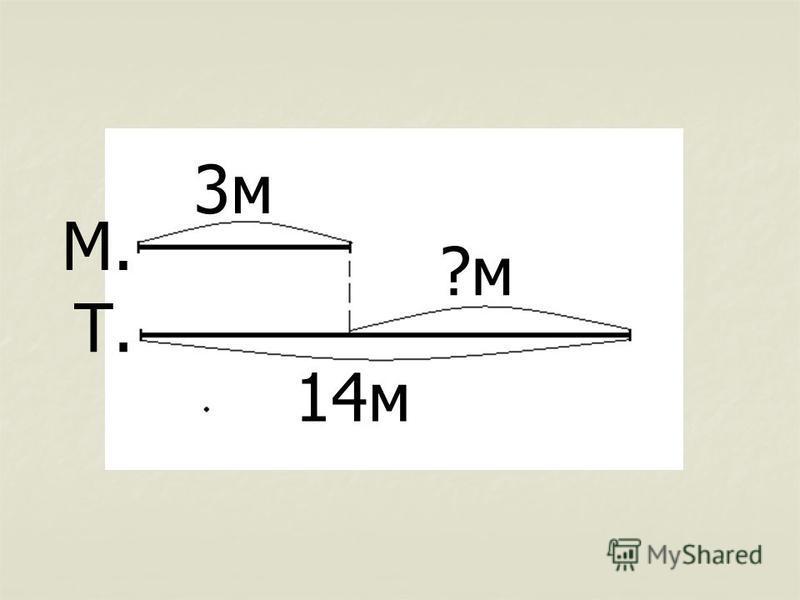 3 м 14 м ?м М. Т.