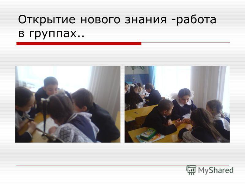 Открытие нового знания -работа в группах..