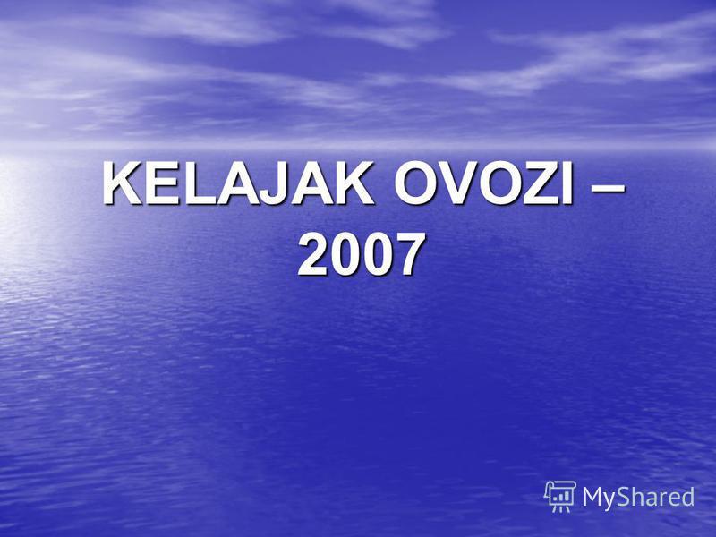 KELAJAK OVOZI – 2007