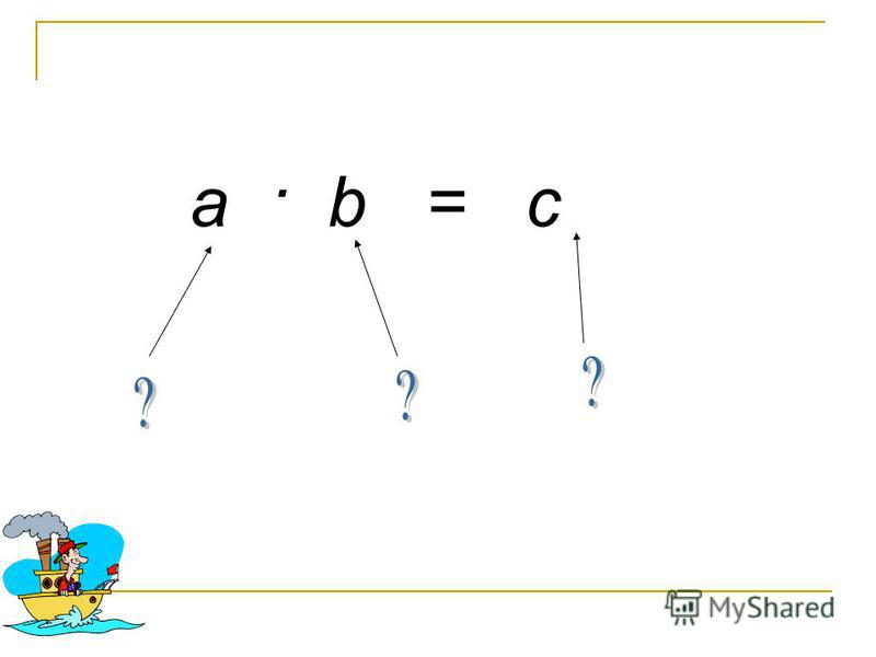 а · b = c
