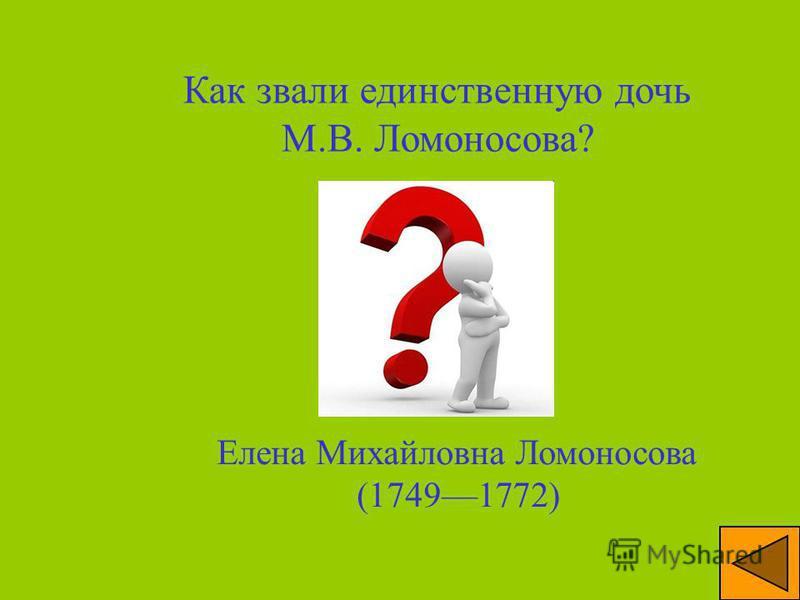 Почему пресеклась линия рода Ломоносовых? У М.В. Ломоносова и его жены Елизаветы Цильх не было сыновей