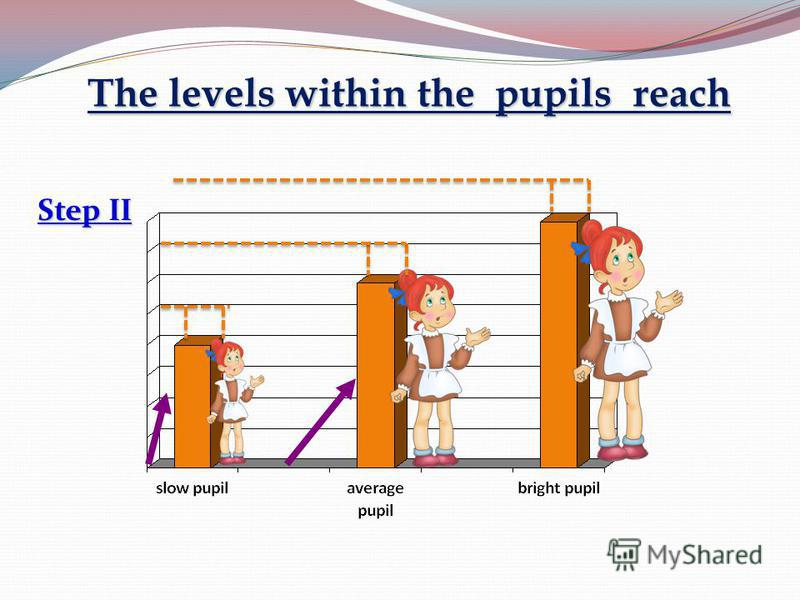 The levels within the pupils reach Step II