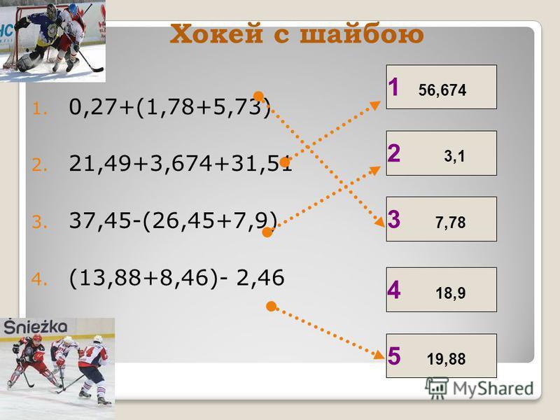 x-2,9=3,93 x+3,54=8,2 4,66 6,83 хокей І ІІ