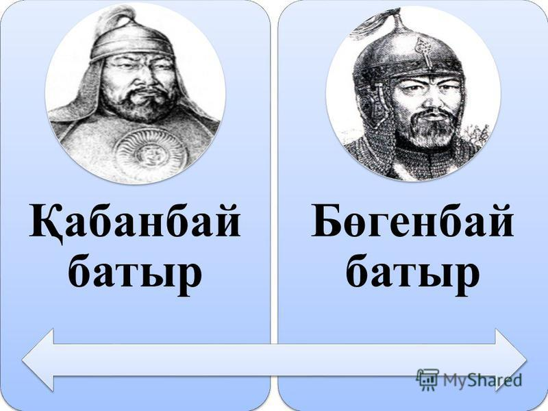 Қабанбай батыр Бөгенбай батыр