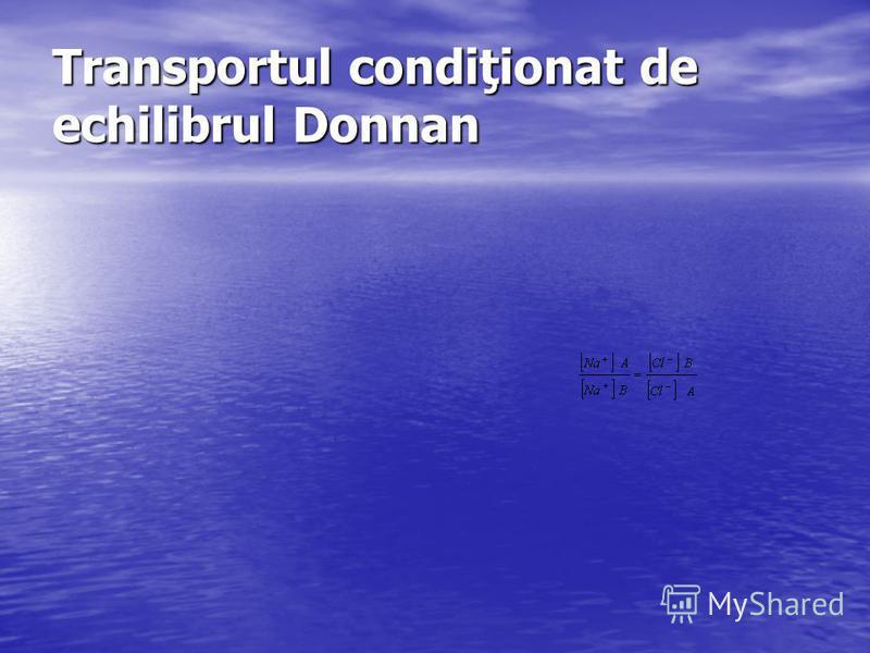 Transportul condiţionat de echilibrul Donnan