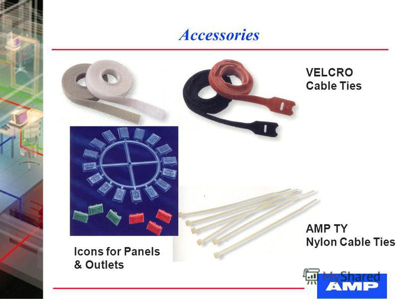 Accessories Icons for Panels & Outlets VELCRO Cable Ties AMP TY Nylon Cable Ties