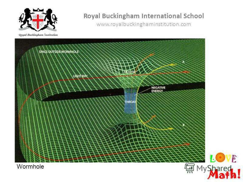 Royal Buckingham International School www.royalbuckinghaminstitution.com Wormhole