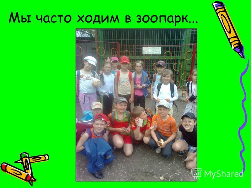 Мы часто ходим в зоопарк...