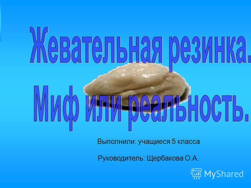 Выполнили: учащиеся 5 класса Руководитель: Щербакова О.А.