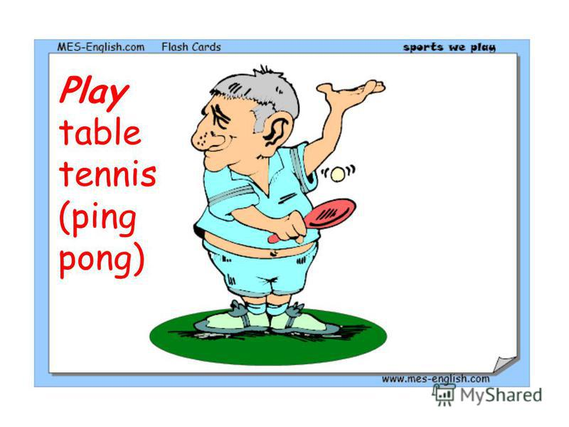 Play table tennis (ping pong)