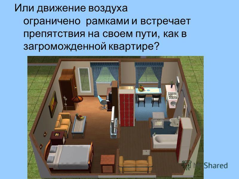 Или движение воздуха ограничено рамками и встречает препятствия на своем пути, как в загроможденной квартире?