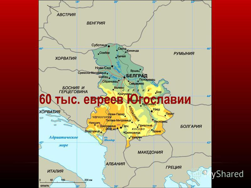 60 тыс. евреев Югославии