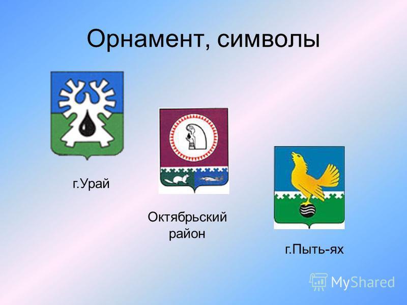 Орнамент, символы г.Урай Октябрьский район г.Пыть-ях