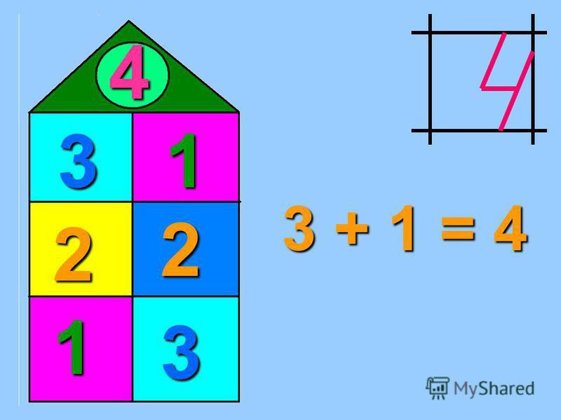 4 1 1 3 3 2 2 3 + 1 = 4