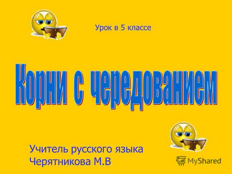 Учитель русского языка Черятникова М.В. Урок в 5 классе