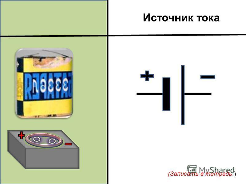 Источник тока (Записать в тетрадь.)