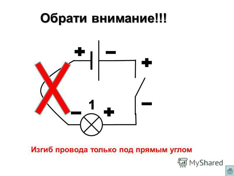 Изгиб провода только под прямым углом Обрати внимание!!!