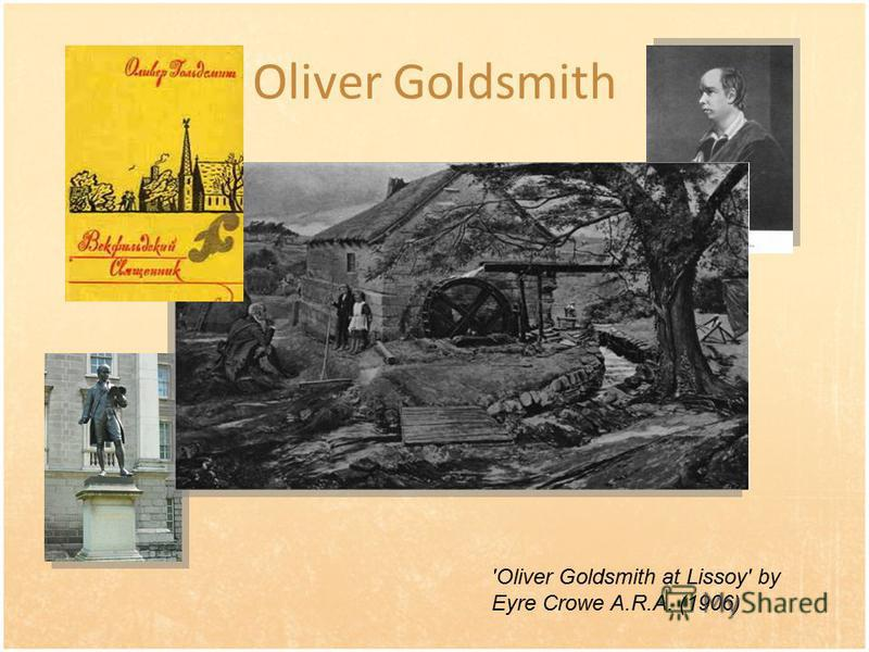 Oliver Goldsmith 'Oliver Goldsmith at Lissoy' by Eyre Crowe A.R.A. (1906)