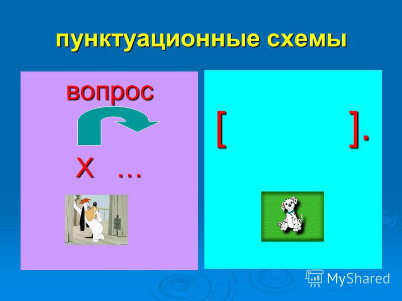 пунктуационные схемы вопрос Х … [ ].