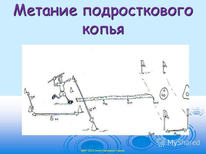 IAAF CECS Level I Lecturers Course Метание подросткового копья