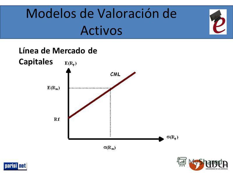 Modelos de Valoración de Activos Línea de Mercado de Capitales